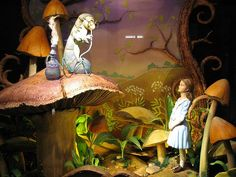 Alice in Wonderland Christmas Windows Shop at Fortnum and Mason, London #1 by norbypix, via Flickr
