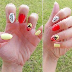 Wakacyjny look 💅 🌴 🌞 ❤ #nailshomemade #summer #hibrid #nails #holiday #palme #pretty #look #summerlook #nail4fun #nails2inspire…