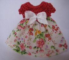 Vestidinho floral vermelho | Carinho, Cor e Arte | 2420B8 - Elo7