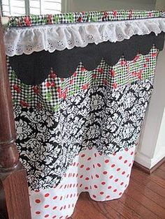 Fun play curtain. I think even I could sew this - or something for my mom to make next time she comes.  I think I already have a rod.