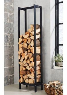 Chic Diy Outdoor Firewood Storage Design Ideas That Will Inspire Everyone Outdoor Firewood Rack, Firewood Shed, Indoor Firewood Storage, Wood Store, Wood Burner, Storage Design, Diy Storage, Easy Diy, Home Decor