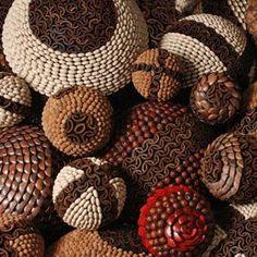 Resultado de imagen para decoraciones con semillas secas