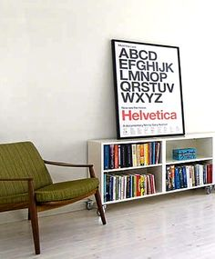 Via Green is the New Black | Helvetica Poster | Green Chair