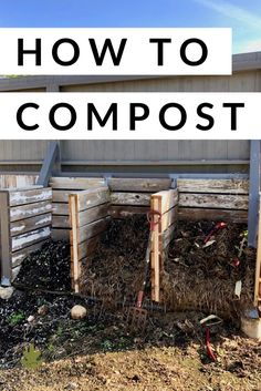 How to compost! Check out this ultimate guide on how to start composting for beginners and experienced composters alike Urban Composting, How To Start Composting, Composting Methods, Composting At Home, Build Compost Bin, Wooden Compost Bin, Garden Compost, Vegetable Gardening, Veggie Gardens