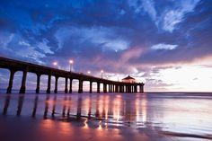 Pier in San Diego, California at Dusk