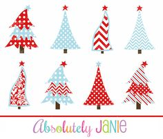 Red Blue Christmas Tree Clipart Whimsical by AbsolutelyJanie Whimsical Christmas Trees, Christmas Tree Clipart, Christmas Decorations, Holiday Decor, Christmas Tree Inspiration, Christmas Ideas, Joy To The World, Blue Christmas, Painted Rocks