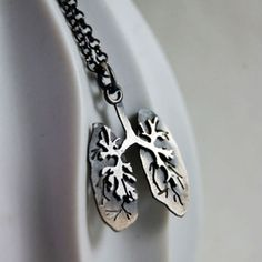 Just Breathe, Sterling Silver Lungs By Markhed. $ 65.00, via Etsy.
