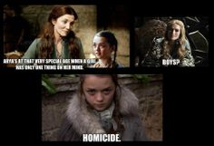 I love this. Arya is perfect. She's also my #1 favorite character in GoT