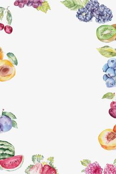 hand painted blueberries,hand painted grapes,hand-painted cherry,hand-painted kiwi,summer fruit,fruit,hand,painted,borders,blueberries,grapes,hand-painted,cherry,kiwi,summer