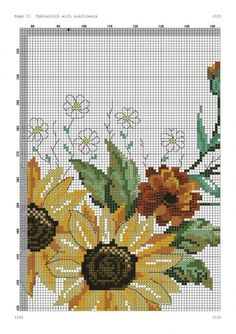 Cross Stitch Flowers, Cross Stitch Patterns, Cabbage Roses, Table Toppers, Fall Harvest, Cactus Plants, Embroidery, Knitting, Handmade