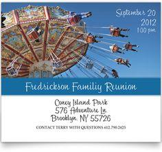 Linen Family Reunion Invitations - Fun Times at the Fair