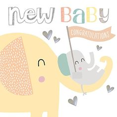 Hotchpotch Mummy & Baby Elephant New Baby Congratulations Card http://www.amazon.co.uk/dp/B015OD8GW6/ref=cm_sw_r_pi_dp_DwHKwb08HRFWZ