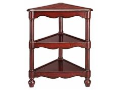 Find space where you thought you never had it with this Stein World Triangle Accent Table, 98446, and other Living Room Tables at China Towne Furniture in Solvay, NY | Syracuse, NY. Triangle three tiered accent table, fluted round legs, round tapered feet. Hand painted vintage oriental red finish.