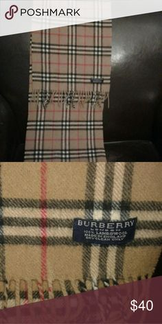 Authentic Burberry Plaid Wool Unisex Scarf 100% lambswool scarf.  No rips stains or tears.  Smoke free pet free home. Burberry Accessories Scarves & Wraps