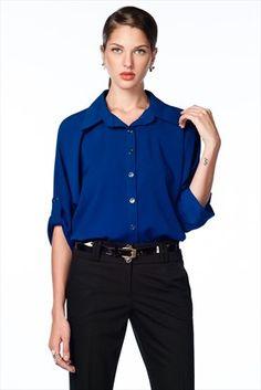 Trend: Moda Ateşi - Kadın Tekstil - İndigo Gömlek 145002 %67 indirimle 59,99TL ile Trendyol da