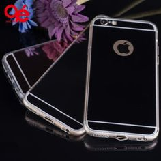 Deluxe Electroplating Mirror TPU Clear Soft Back Phone Case Cover for iPhone 5 5S 6 6 Plus Case Cover