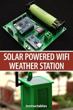 Solar Powered WiFi Weather Station – Instructables Solar Powered WiFi Weather Station Build a solar powered WIFI weather station that monitors temperature, pressure, humidity, altitude, and UV level. Solar Panel System, Solar Energy System, Panel Systems, Solar Power, Diy Electronics, Electronics Projects, Iot Projects, Electrical Projects, Solar Panel Calculator