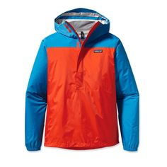 Patagonia Men's Torrentshell Pullover... a lighter and cheaper version of the same rain jacket.  $119