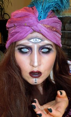Halloween Fortune Teller look perfect for Tarot Reader, Crystal Ball Reader or Cauldron Reader