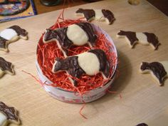 Belted Galloway Cow Cookies from Maine