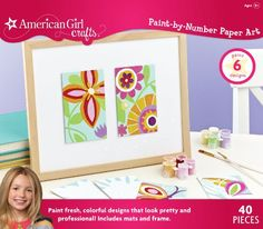 American Girl Crafts Paint-by-Number Paper Art - #ArtsAndCrafts
