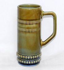 Vintage Wade Irish Porcelain Pottery Tall Mug Stein Tankard Large Handle