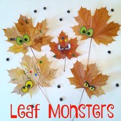 "Nicola on Instagram: ""Why not collect some leaves this weekend and turn them into LEAF MONSTERS 😀🎨 A great activity for all of the family to enjoy this Autumn.…"" Autumn Crafts, Fall Crafts For Kids, Craft Projects For Kids, Thanksgiving Crafts, Toddler Crafts, Preschool Crafts, Kids Crafts, Fall Preschool, Preschool Themes"
