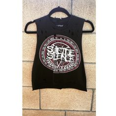 Suicide Silence Shirt Metal Death Metal Band Shirt Grunge Distressed... ($30) ❤ liked on Polyvore featuring tops, grey, t-shirts, women's clothing, gray crop top, grey shirt, grey tank top, gray shirt and crop top