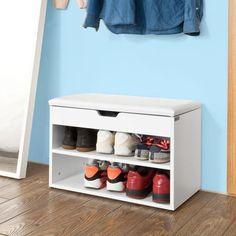 Vite ! Découvrez l'offre SoBuy® FSR25-W Banc de Rangement à chaussures 2 étages avec coussin Commode à Chaussures confortable- blanc pas cher sur Cdiscount. Livraison rapide et Economies garanties en banc !