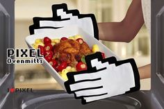 Pixel Oven Mitts - Take My Paycheck | The coolest gadgets, electronics, geeky stuff, and more!