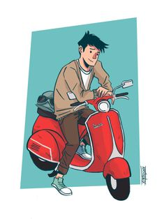 Nerd on wheels. Open for commissions! Big Hero 6, Top Of The World, Disney Movies, Nerd, Fan Art, Drawings, Movie Posters, Vespa, Fictional Characters