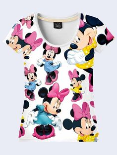 Womens t-shirt - Minnie Mouse. 3D-print image. Made in Ukraine.