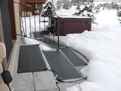 Keep Your Stairs And Sidewalks Free And Clear Of Dangerous Ice And Snow.  HeatTrak Snow