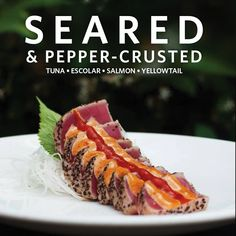 #searedandpeppercrusted #appetizers #sushi_zushi #delicious #yummers