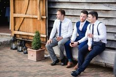 Old Greens Barn Newdigate wedding photography wedding guests chatting