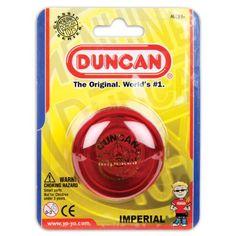Duncan Imperial Yo Yo , Assorted colors, Pack of 1 Duncan http://smile.amazon.com/dp/B000H6DY5U/ref=cm_sw_r_pi_dp_ggGKwb1G5VCPA