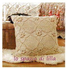 Schema per copridivano e cuscini a piastrelle crochet  Crochet diagram