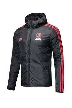 727e29282 Manchester United F.C. Football club 2018 - 19 Replica Adidas Black Hat  feather Jacket Cotton padded coat TOP TRACKSUIT FÚTBOL CALCIO SOCCER CLUB  FUSSBALL ...