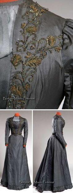 Dress, 1889. Corded silk. Agnes Etherington Centre, Queen's Univ.