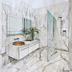 Interior Architecture Drawing, Interior Design Renderings, Architecture Concept Drawings, Drawing Interior, Interior Rendering, Interior Sketch, Decor Interior Design, Architecture Design, Interior Decorating