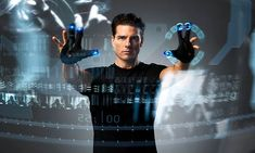 The technology portrayed in the Tom Cruise movie Minority Report continues to come to fruition in real life, this time with advances in the transparent displays Tom's character used throughout the science fiction film! Google Glass, Kathryn Morris, Tom Cruise, Film Science Fiction, Fiction Movies, Smart Home Technology, Futuristic Technology, Technology Gadgets, Technology Innovations