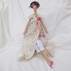 Jane Austen Items | Tilda Doll - Jane Austen Green floral - Folksy