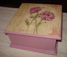 Resultado de imagen para cajas de te pintadas