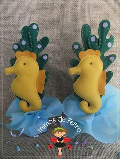 Mimos de Feltro by Angela Mary: { Enfeites de mesa tema Fundo do mar }