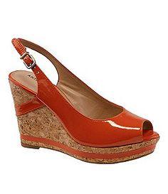 Orange wedges for spring...So cute.  Antonio Melani | Shoes | Dillards.com