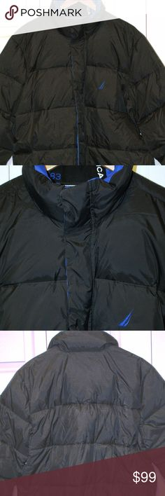 Men's Nautica Puffer Jacket size XL or XXL...NWT Men's Nautica Puffer Jacket size XL or XXL...NWT........full zip w/snaps....front pockets w/snaps....shell 100% nylon....lining 100% nylon....filling 50% down/50% feather....smoke/pet free....shipping within 1 business day....please ask any questions. Nautica Jackets & Coats Puffers
