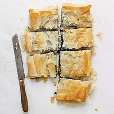 Spinach Pie with Goat Cheese, Raisins, and Pine Nuts   CookingLight.com #vegetarian