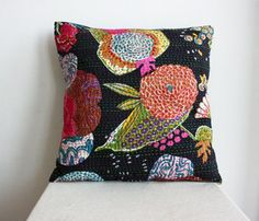 Boho Chic Black Pillow // $27