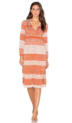 Rachel Pally Kaemon Dress in Copper Block Print