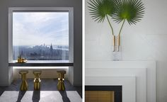 Picture the mighty Rafael Viñoly-designed 432 Park Avenue, and walking into a 92nd floor apartment peppered with modern pieces by the likes of Tom Dixon, Lindsey Adelman, and Luca Nichetto. That fantasy can now become reality in one of the New York tow...